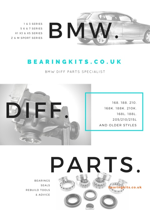 bmw diff differential rebuild bearings