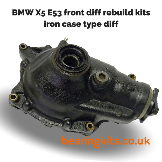 BMW DIFF REPAIR PARTS - BMW X5 front and rear diff repair