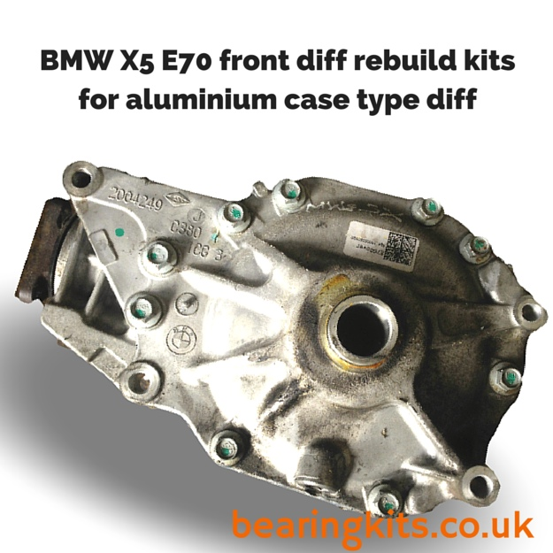 bmw x5 e70 front diff problems