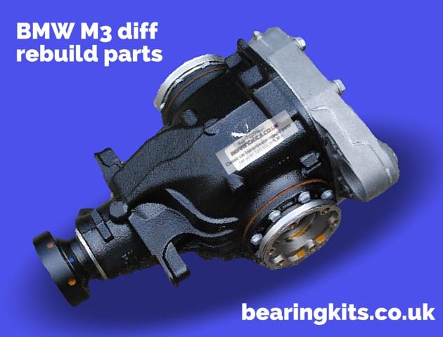 BMW M3 diff noise repair bearing