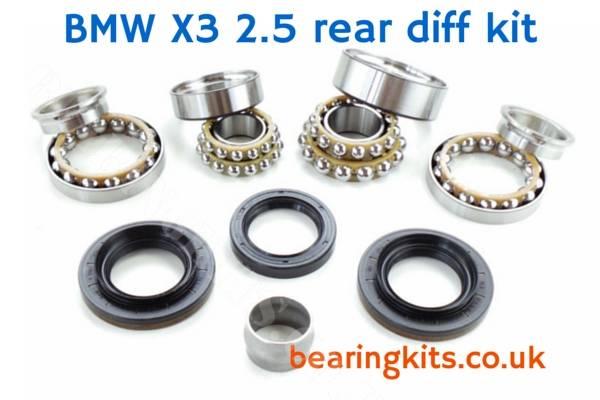 BMW X3 SERIES 4 bolt REAR DIFFERENTIAL NOISE REPAIR KIT