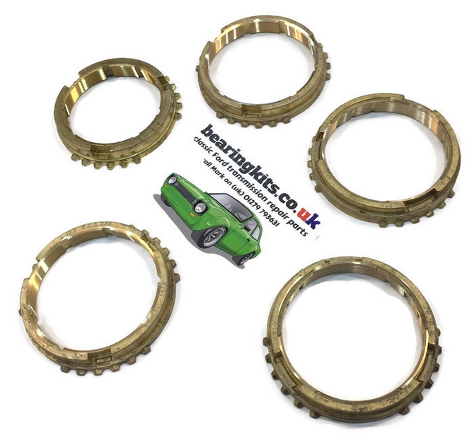 FORD SIERRA TYPE 9 5 SPEED GEARBOX SYNCRO RING SET OF  BAULK RINGS