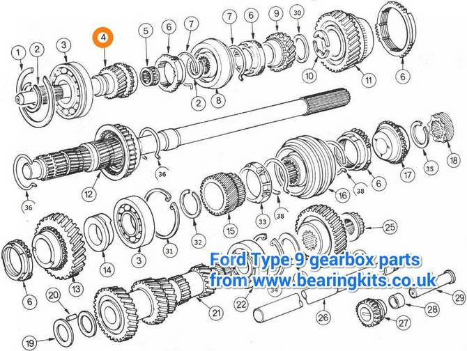 Ford Gearbox Parts Ford Type 9 Gearbox Parts Caterham K Series Type 9 Gearbox Input Shaft 19