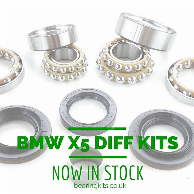 BMW X5 E70 N52 / N62TU / M57T2 rear differential rebuild kit bearings and  seal set