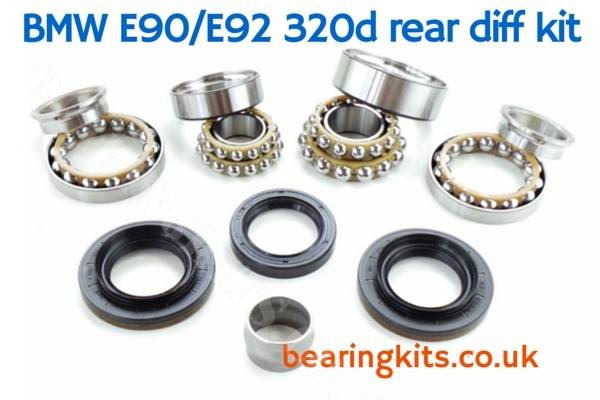 BMW 320d 3 SERIES E90 E91 E92 E93 DIFFERENTIAL NOISE MASTER REPAIR KIT