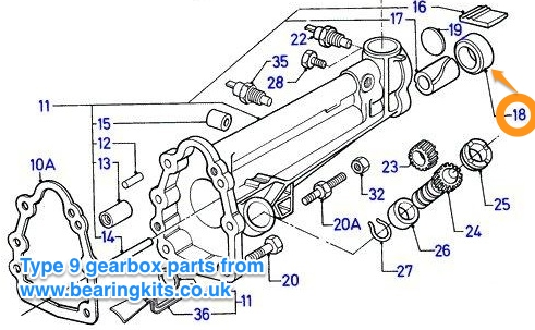 FORD TYPE 9 GEARBOX REAR OIL SEAL