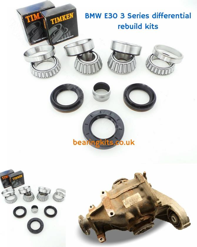 BMW 3 Series 6 cylinder E30 rear 188 rear diff rebuild kit