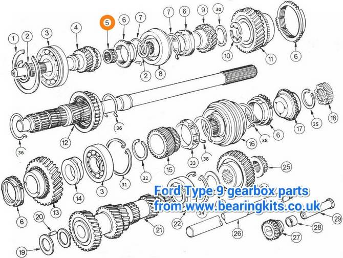 ford gearbox parts - ford type 9 gearbox parts