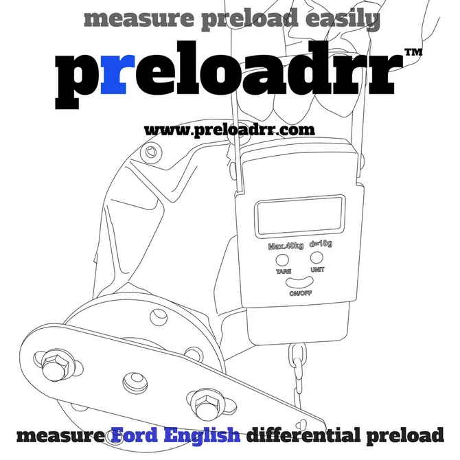 FORD ESCORT ENGLISH DIFFERENTIAL PINION PRELOAD MEASURING GAUGE TOOL