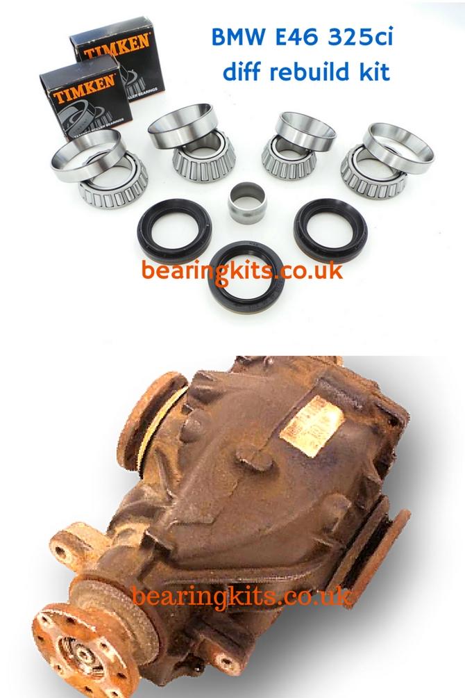 Bmw diff repair parts classic bmw differential rebuild kits pre bmw e46 3 series 330ci rear differential rebuild kit publicscrutiny Gallery