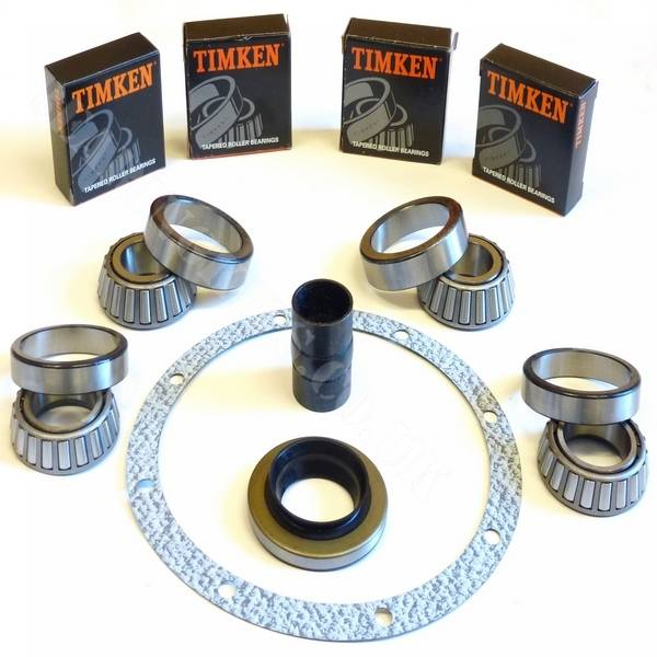 English Timken LIMTED SLIP differential bearings and rebuild kit with large type diff carrier bearing