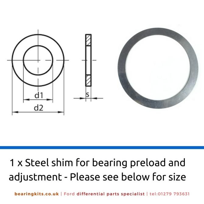 Adjusting Shim Inside Diameter 50mm x 62mm Outside Diameter (1.0mm)