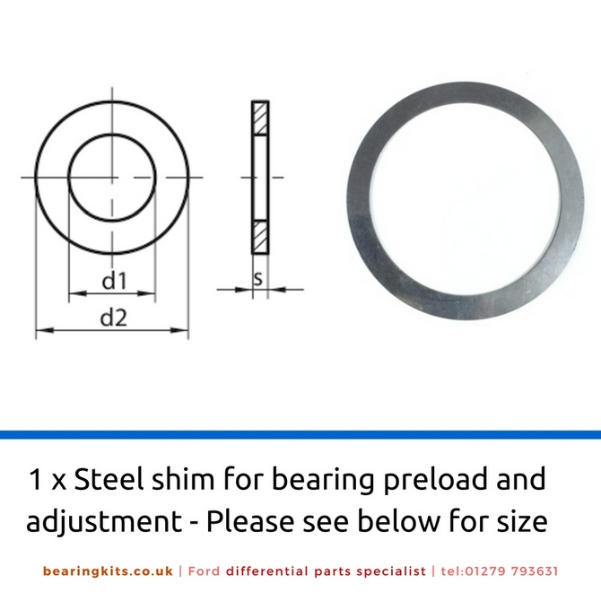 Adjusting Shim Inside Diameter 63mm x 80mm Outside Diameter (0.1mm)