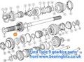 TYPE 9 GEARBOX MAINSHAFT & 1/2 SYNCHRO HUB