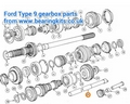 NEW STANDARD FORD TYPE 9 GEARBOX LAYSHAFT