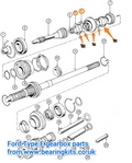 3rd and 4th gear synchro hub and baulk rings kit for Ford Type E gearbox