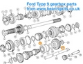 Ford T9 gearbox 5th gears as a matched pair
