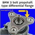 BMW 3 Series diff 3 bolt flange pinion bearing preload torque measuring gauge tool