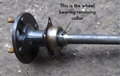 Ford Escort English axle half shaft wheel bearing retaining collars