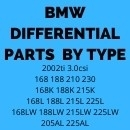 DIFF REBUILD PARTS FOR BMW BY DIFFERENTIAL TYPE AND SIZE